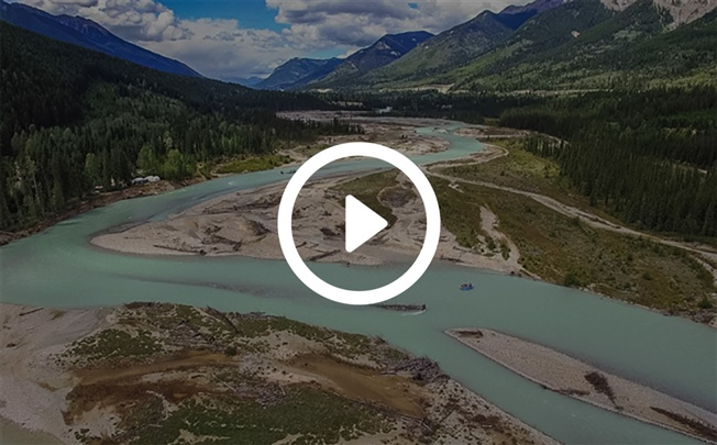 The Kicking Horse River